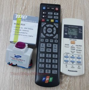 công tắc điều khiển từ xa hồng ngoại ir2a có thể điều khiển bằng bất kỳ remote hồng ngoại nào