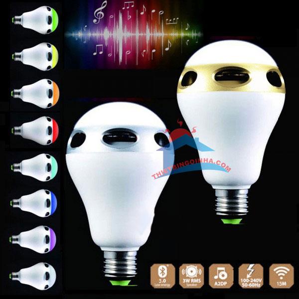 đèn led đổi màu kiêm loa bluetooth