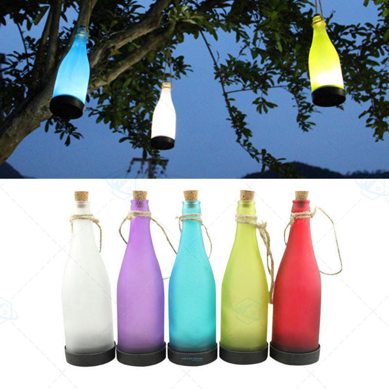 Chai đèn led tra g trí ngoài trời giá rẻ