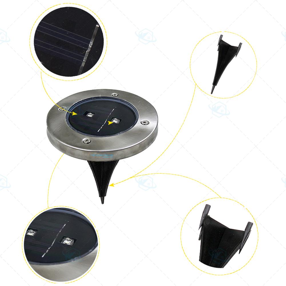đèn âm năng lượng trời trang trí sân vườn