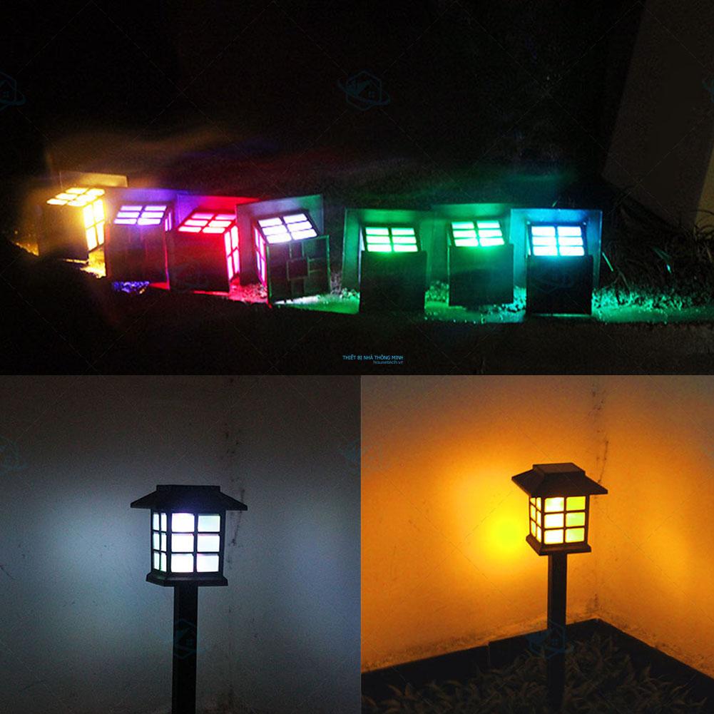 đèn sân vườn đổi màu năng lượng mặt trời cao cấp