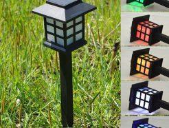 đèn sân vườn đổi màu năng lượng mặt trời chữ nhật ở hà nội