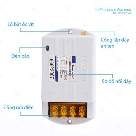 Công tắc điều khiển máy bơm nước từ xa giá rẻ Ht6220KG5