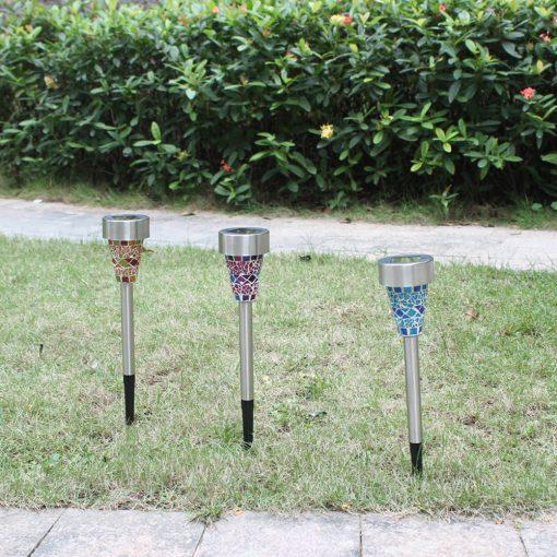 Đèn trang trí sân vườn cao cấp năng lượng mặt trời tự động vỏ inox