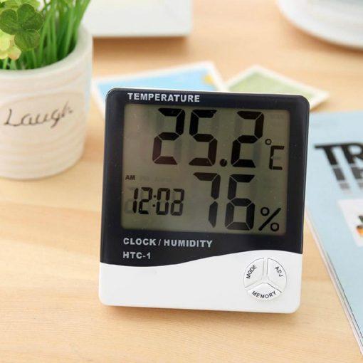Đồng hồ đo nhiệt độ và độ ẩm trong phòng điện tử htc1