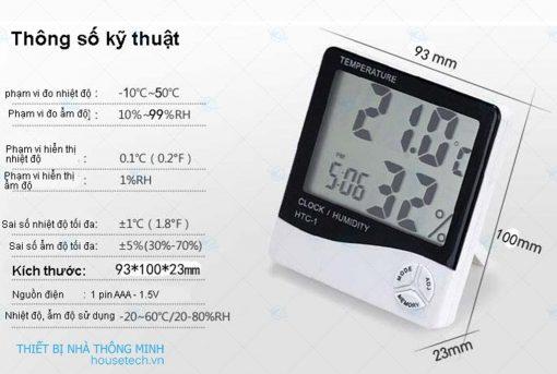 Đồng hồ đo nhiệt độ và độ ẩm không khí