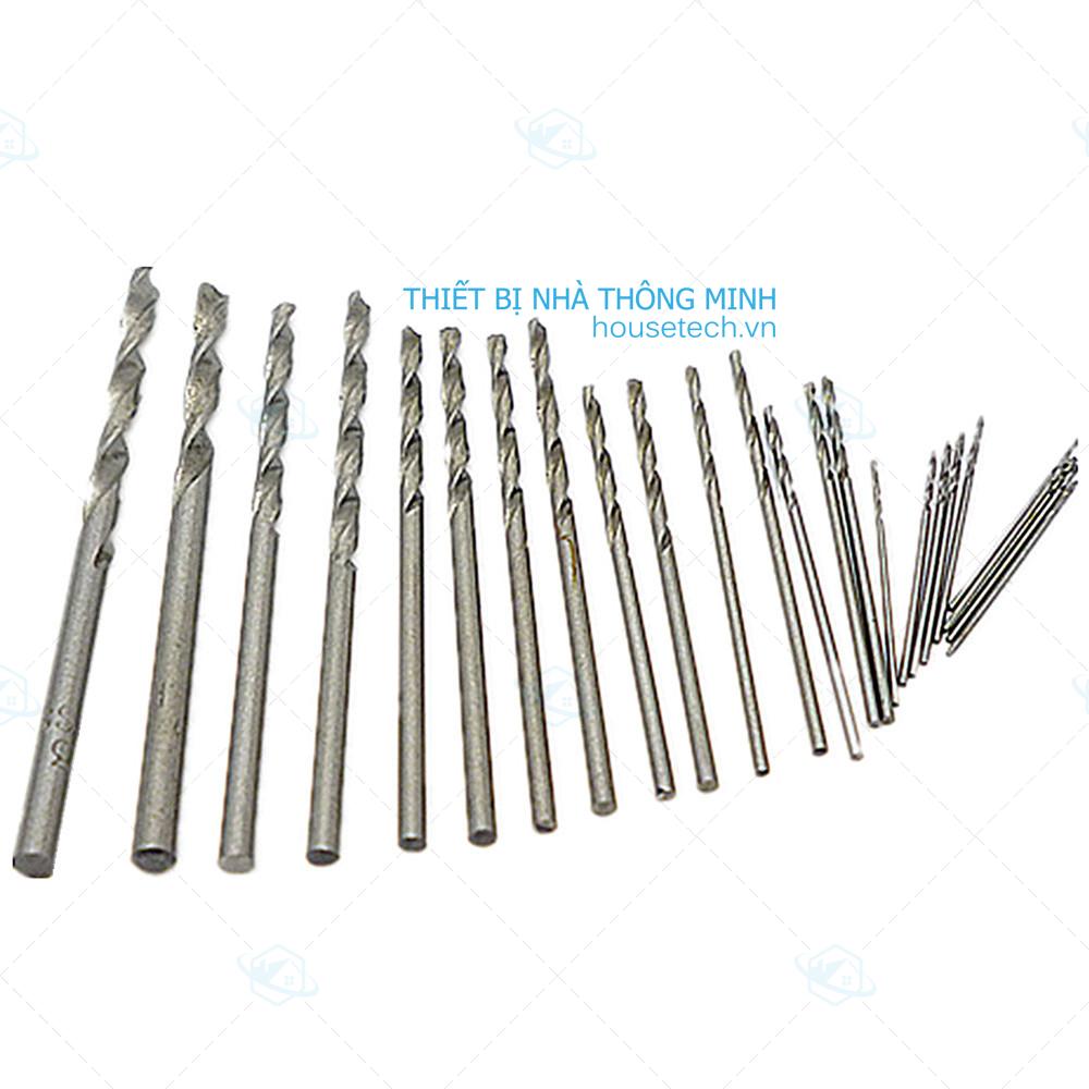 Hộp 25 mũi khoan mini 0.5-03mm ở Hồ Chí Minh