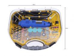 Bộ dụng cụ máy khoan mài khắc mini đa năng 211 chi tiết HT365