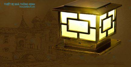 Đèn trụ cổng chống nước năng lượng mặt trời cao cấp tại HCM