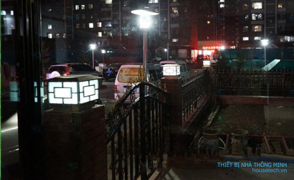 Đèn trụ cổng NLMT chống nước tại HN
