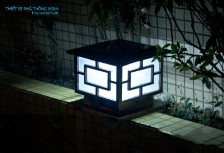 Đèn trụ cổng chống nước năng lượng mặt trời cao cấp