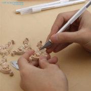 Bộ lưỡi dao khắc bút chì gỗ nghệ thuật cao cấp HT281
