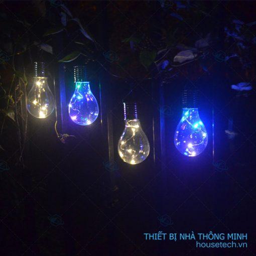 Đèn treo hình bóng đèn sử dụng năng lượng mặt trời