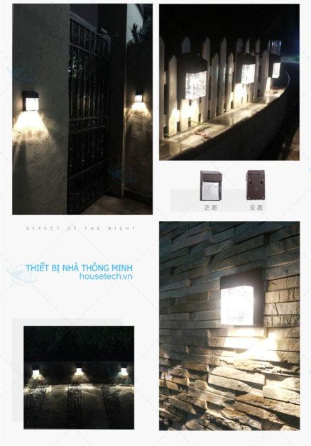 Đèn ốp tường cao cấp năng lượng mặt trời