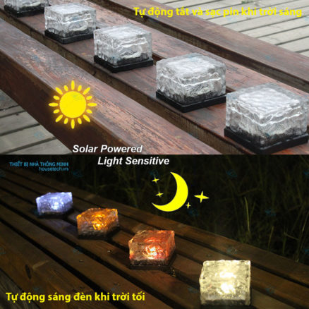 Đèn đá lát sân năng lượng mặt trời hồ chí minh gía rẻ