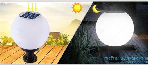 Đèn trụ quả cầu năng lượng mặt trời