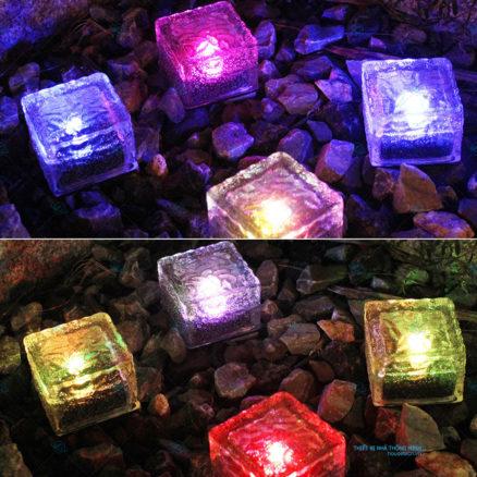 Đèn trang trí sân vườn hình viên đá