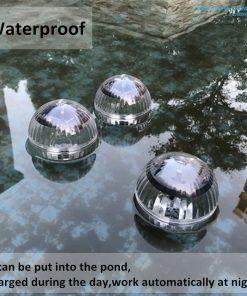 Quả cầu năng lượng mặt trời thả hồ