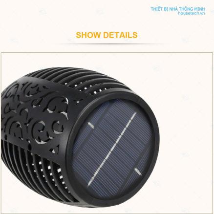 Tấm pin năng lượng mặt trời đèn ngọn đuốc