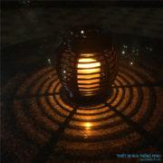 Đèn trang trí sân vườn hình lồng đèn