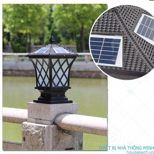 Mái đèn trụ cổng năng lượng mặt trời cao cấp HT511