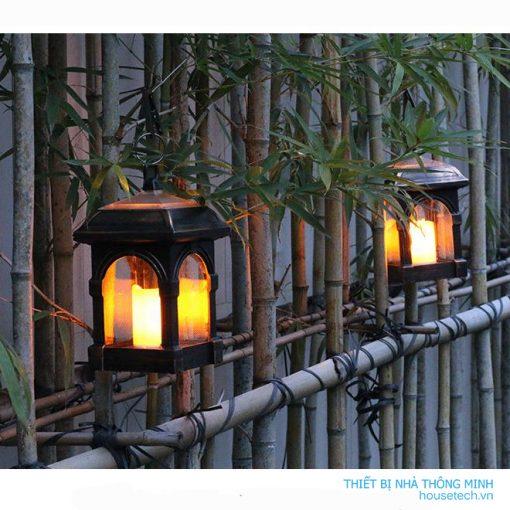 Đèn treo chứa nến năng lượng mặt trời