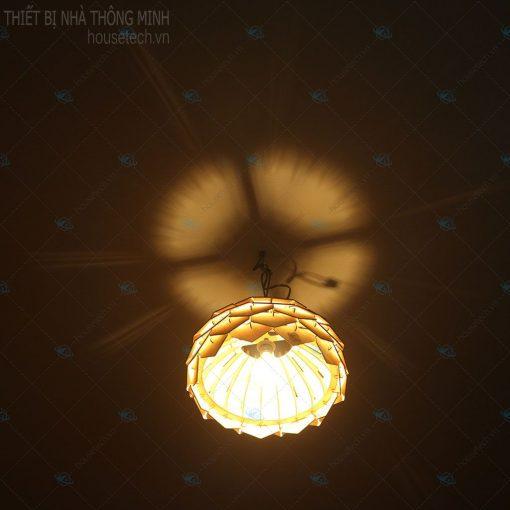 Đèn gỗ treo bàn ăn tại Hà Nội Ht644