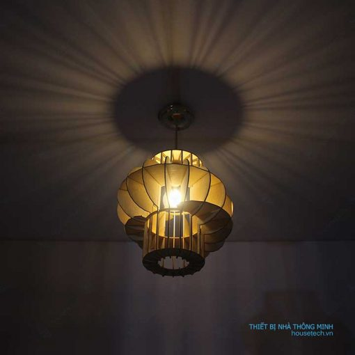 đèn trang trí băng gỗ Ht587