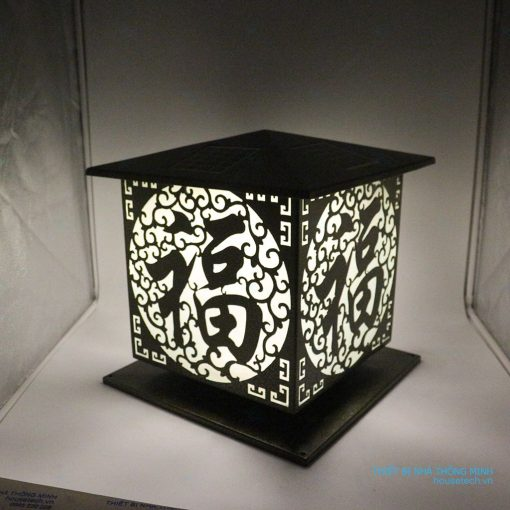 Đèn gắn trụ cổng hình chữ thọ HT614