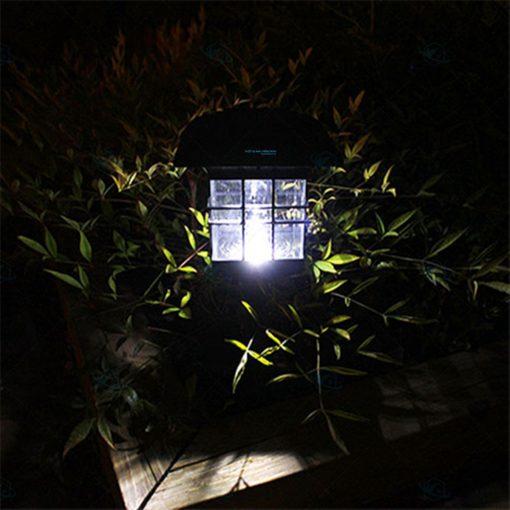 Đèn năng lượng mặt trời sân vườn chữ nhật