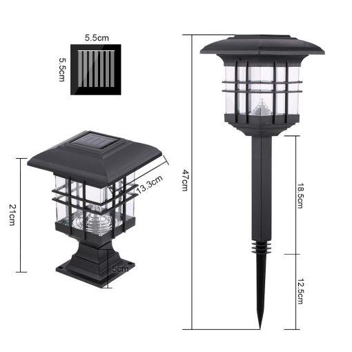 Đèn trụ cổng năng lượng mặt trời sân vườn cao cấp